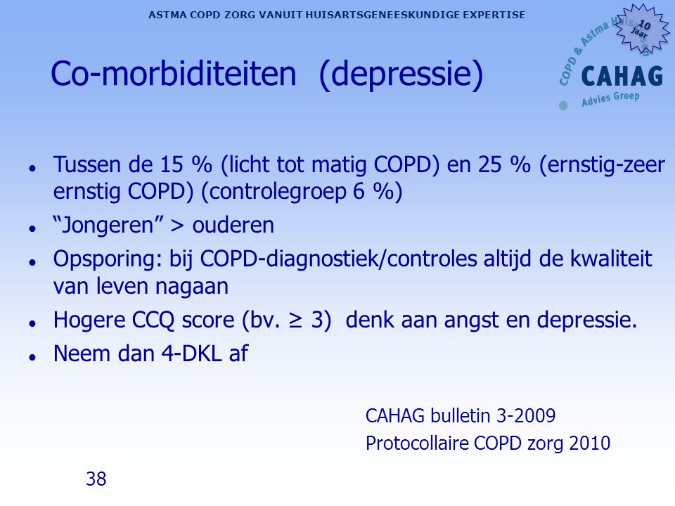 Co-morbiditeiten (depressie)