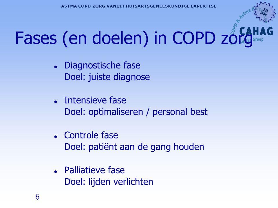 Fases (en doelen) in COPD zorg