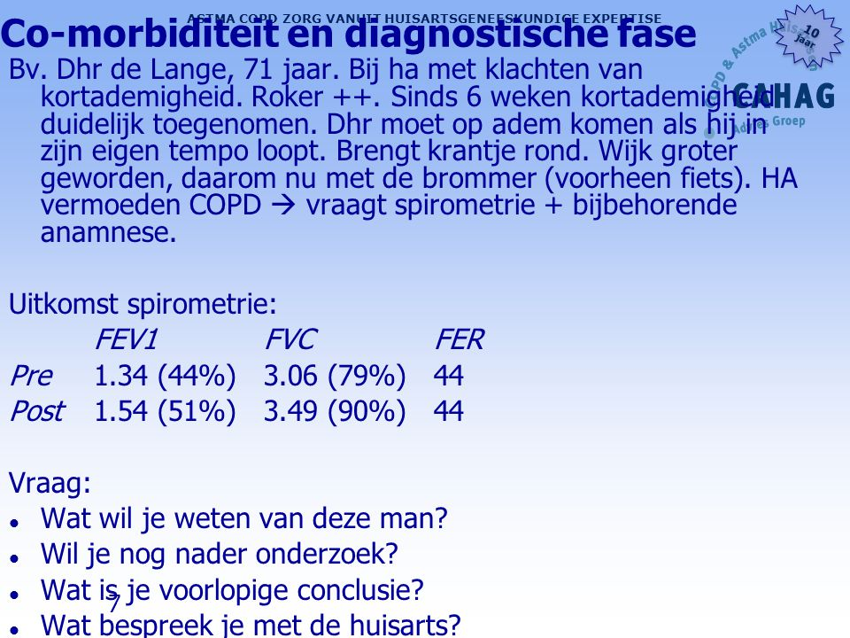 Co-morbiditeit en diagnostische fase