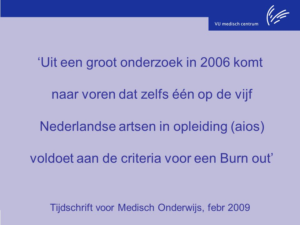Tijdschrift voor Medisch Onderwijs, febr 2009