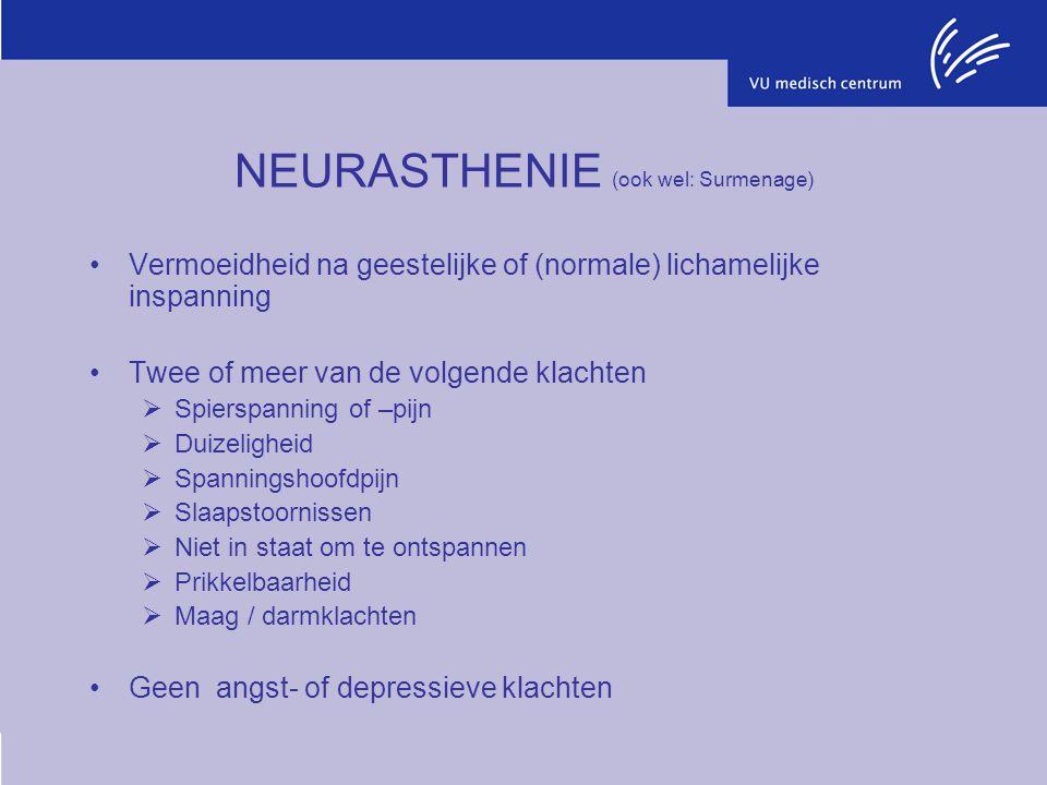 NEURASTHENIE (ook wel: Surmenage)