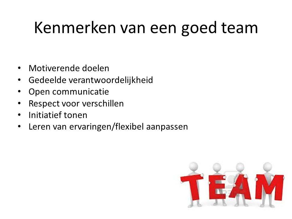 Kenmerken van een goed team