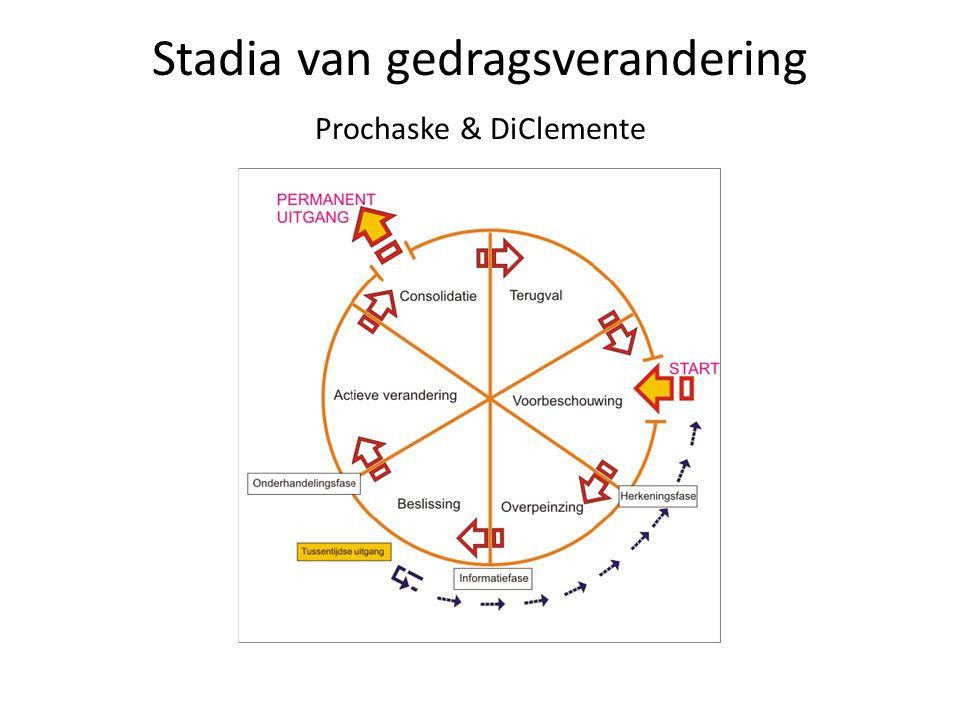 Stadia van gedragsverandering Prochaske & DiClemente