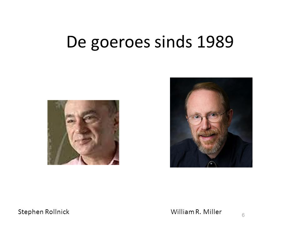De goeroes sinds 1989 Stephen Rollnick William R. Miller