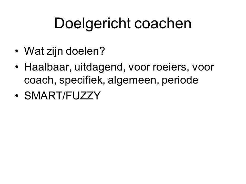 Doelgericht coachen Wat zijn doelen