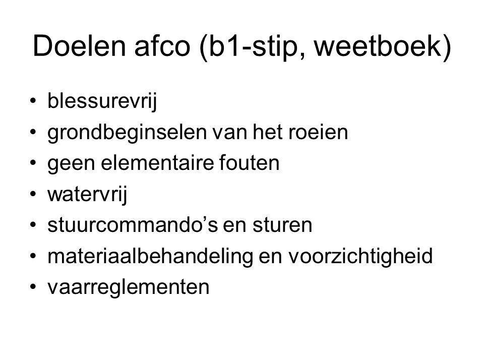 Doelen afco (b1-stip, weetboek)