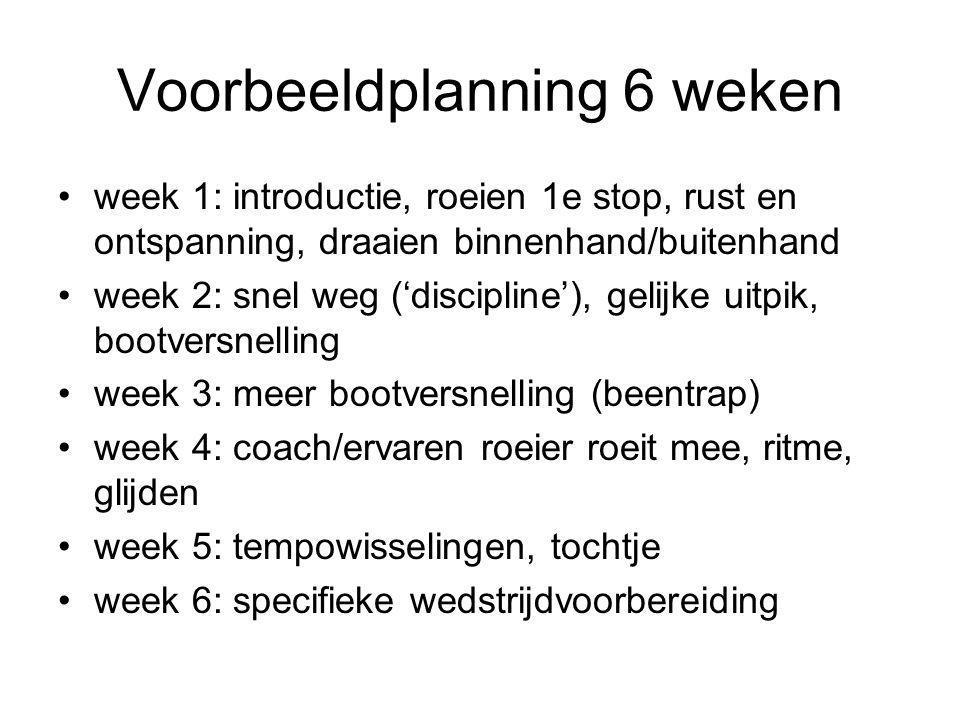Voorbeeldplanning 6 weken
