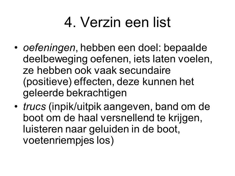 4. Verzin een list
