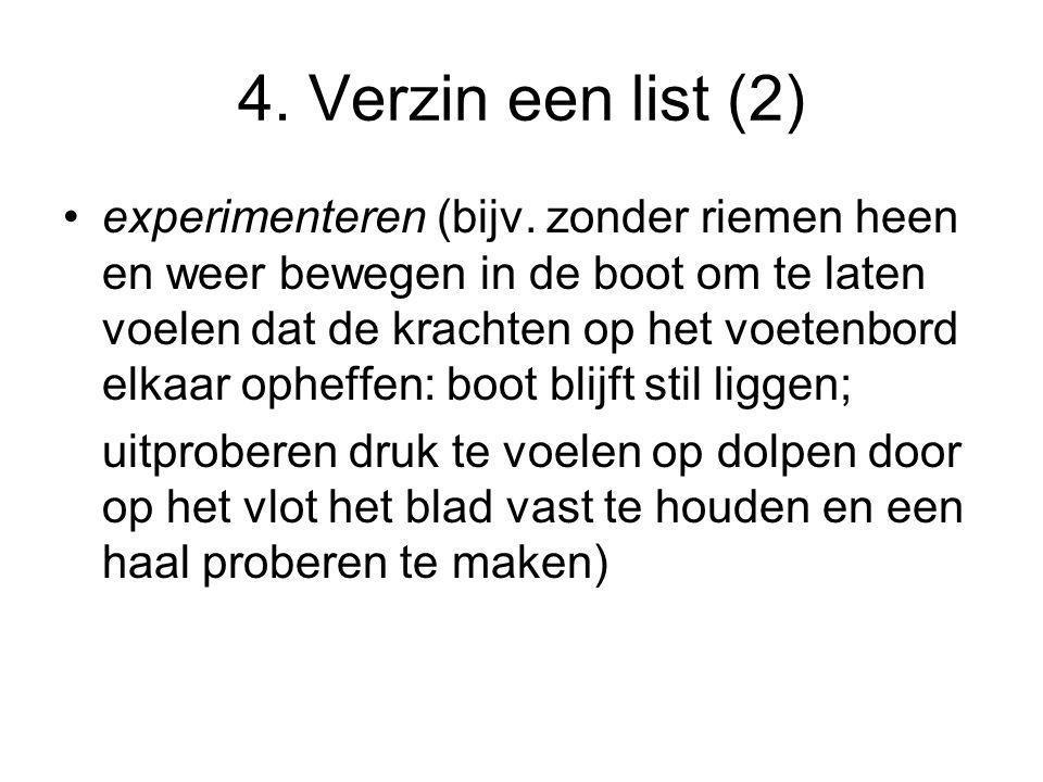 4. Verzin een list (2)
