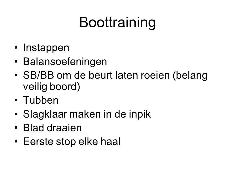 Boottraining Instappen Balansoefeningen
