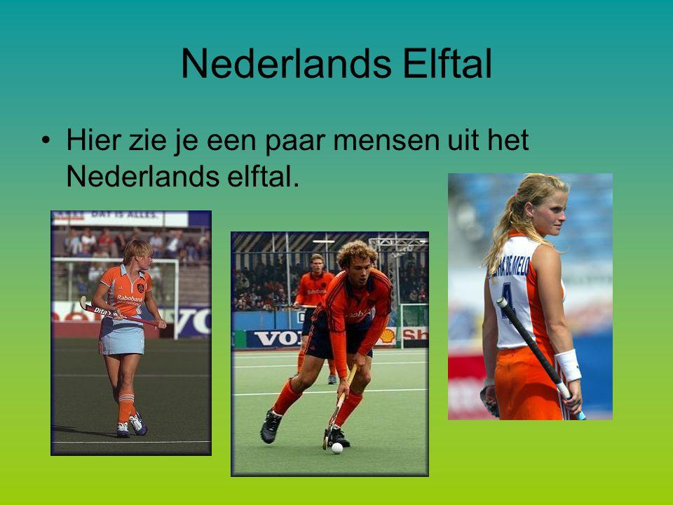 Nederlands Elftal Hier zie je een paar mensen uit het Nederlands elftal.