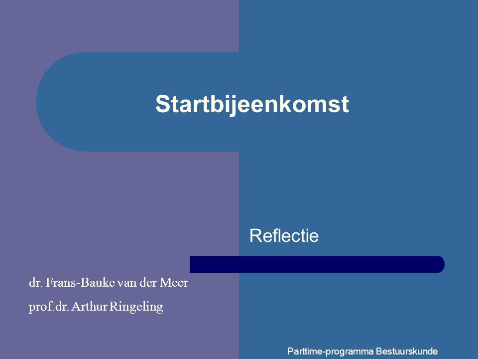 Startbijeenkomst Reflectie dr. Frans-Bauke van der Meer