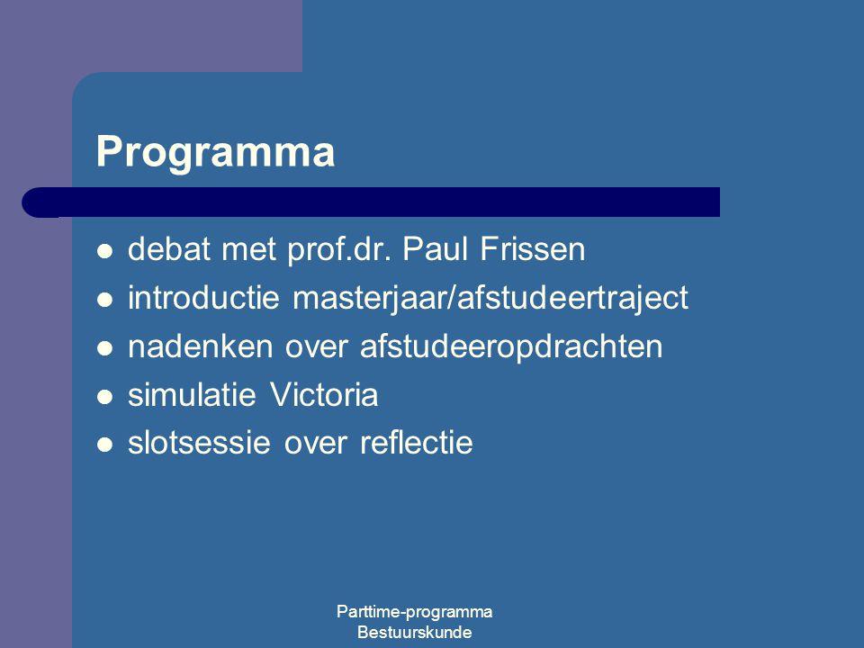 Parttime-programma Bestuurskunde