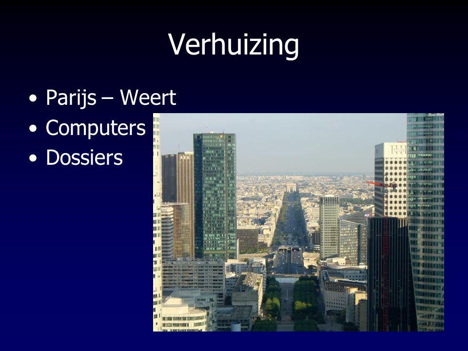 Verhuizing Parijs – Weert Computers Dossiers