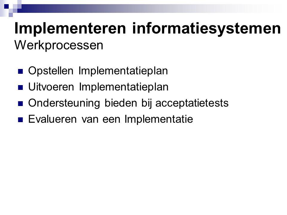 Implementeren informatiesystemen Werkprocessen