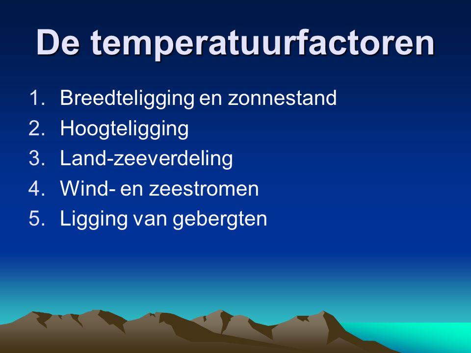 De temperatuurfactoren