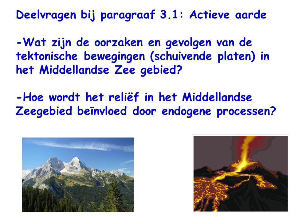 Deelvragen bij paragraaf 3.1: Actieve aarde
