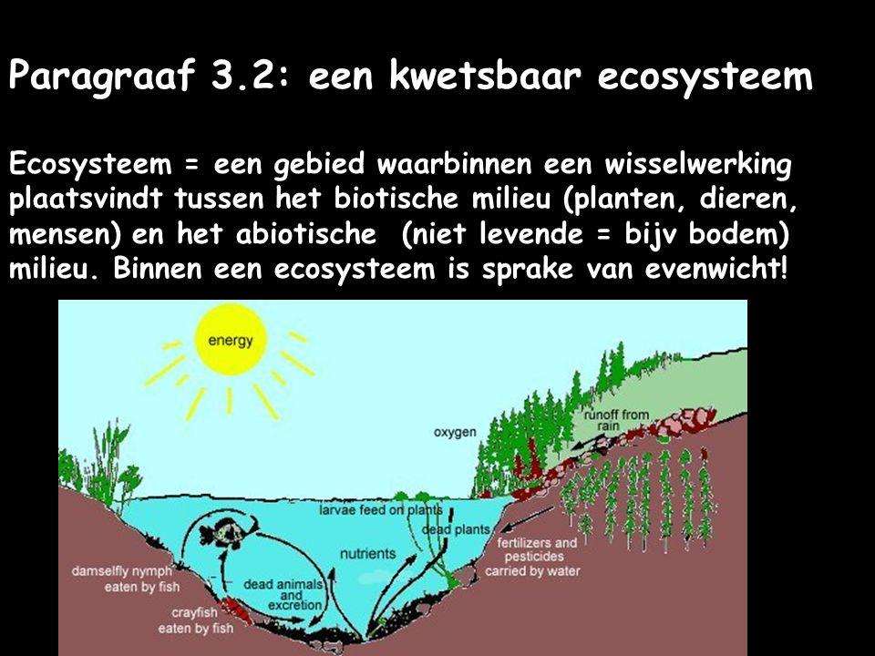 Paragraaf 3.2: een kwetsbaar ecosysteem