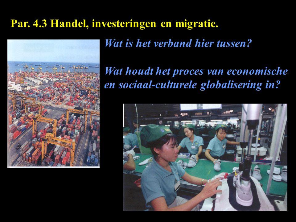 Par. 4.3 Handel, investeringen en migratie.
