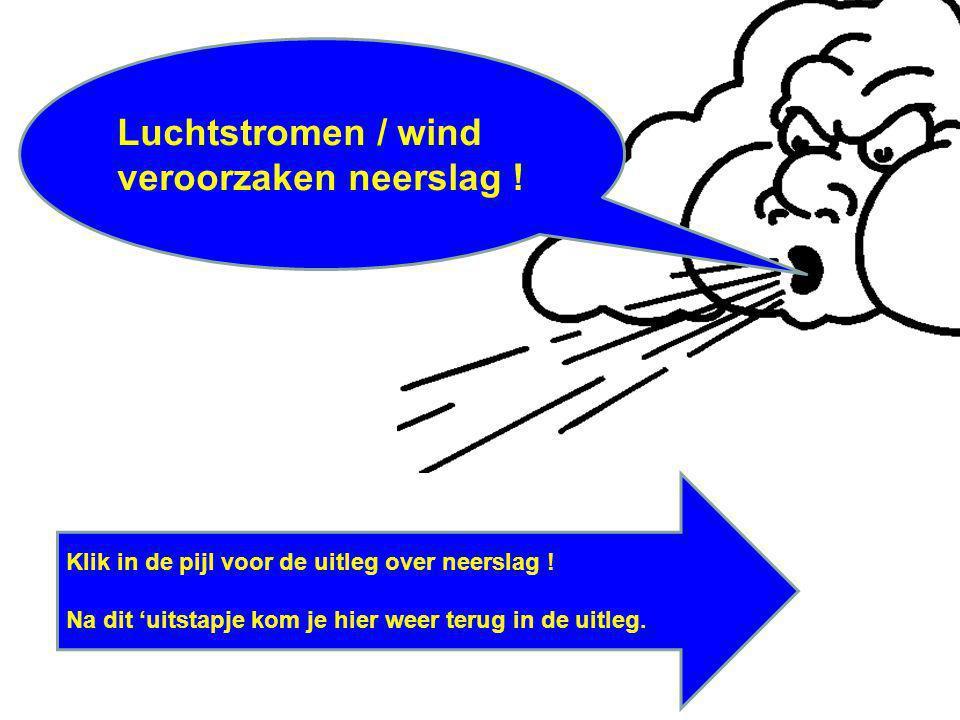 Luchtstromen / wind veroorzaken neerslag !
