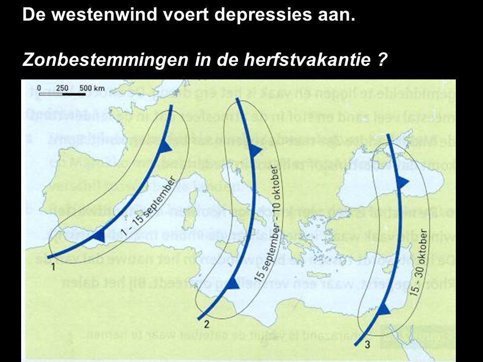 De westenwind voert depressies aan.