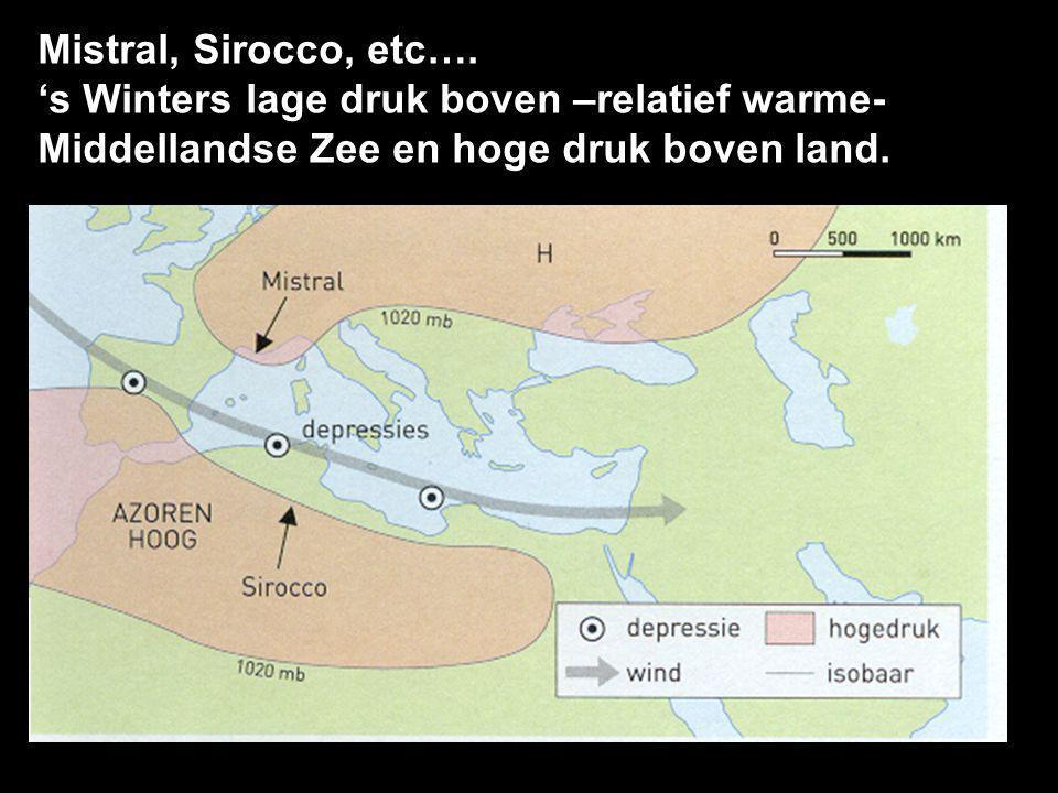 Mistral, Sirocco, etc….