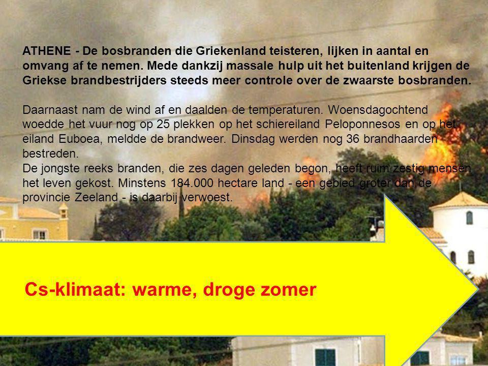 Cs-klimaat: warme, droge zomer