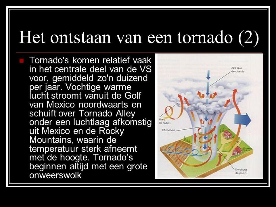 Het ontstaan van een tornado (2)