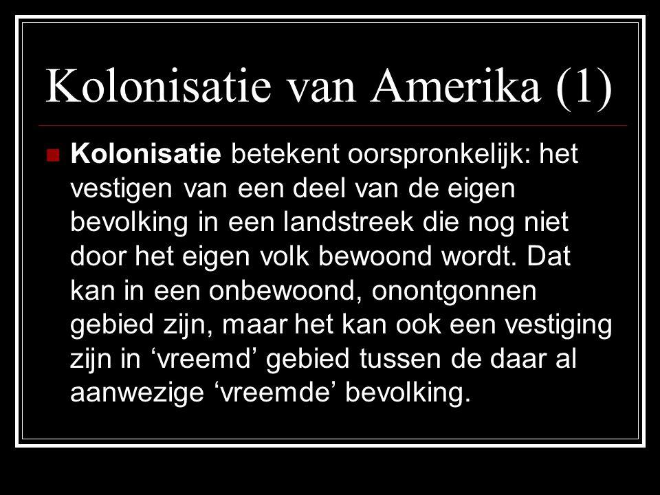 Kolonisatie van Amerika (1)