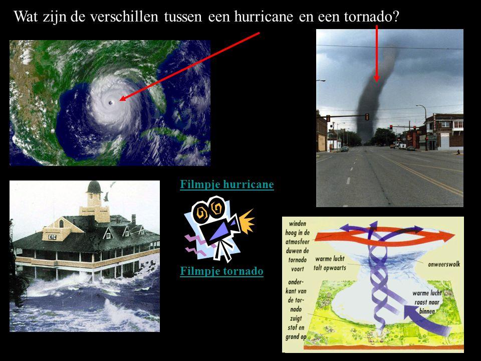 Wat zijn de verschillen tussen een hurricane en een tornado