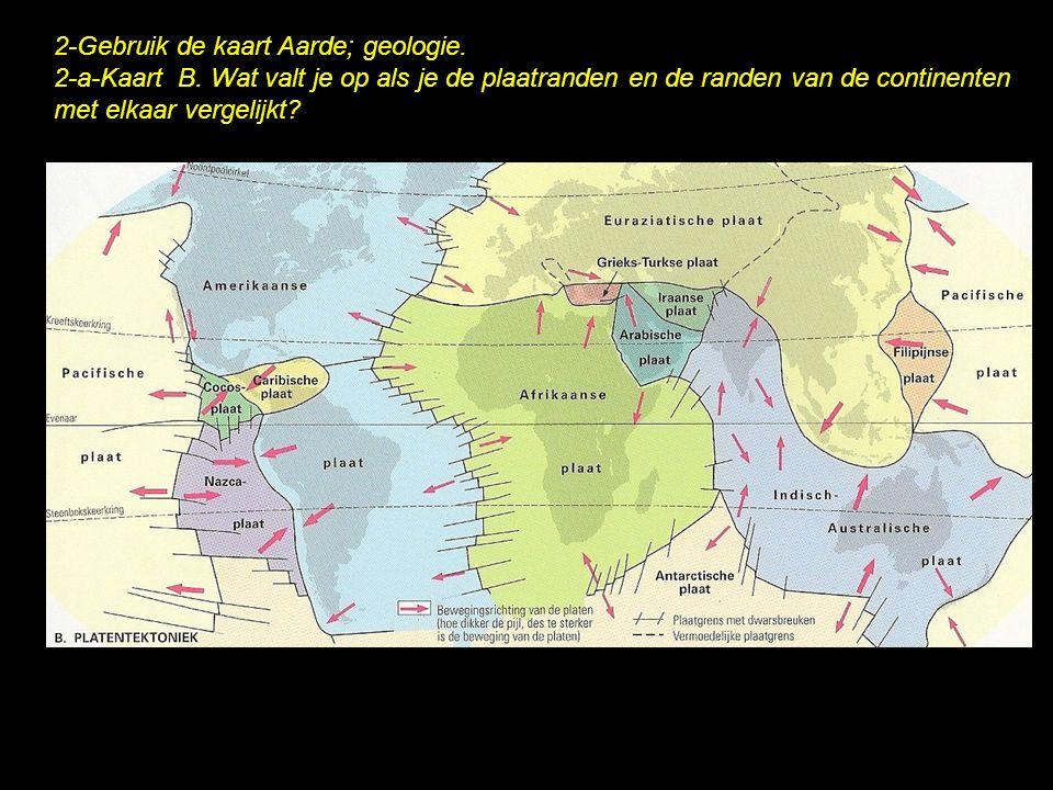 2-Gebruik de kaart Aarde; geologie.