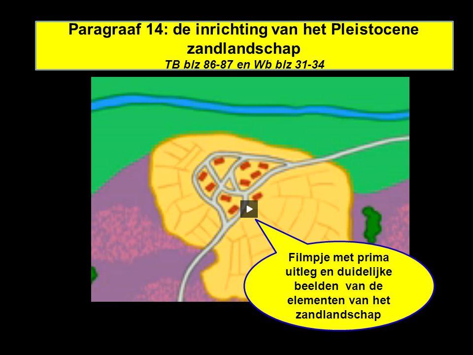 Paragraaf 14: de inrichting van het Pleistocene zandlandschap