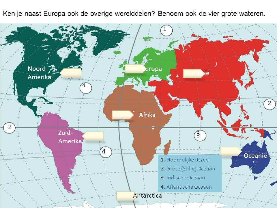 Ken je naast Europa ook de overige werelddelen