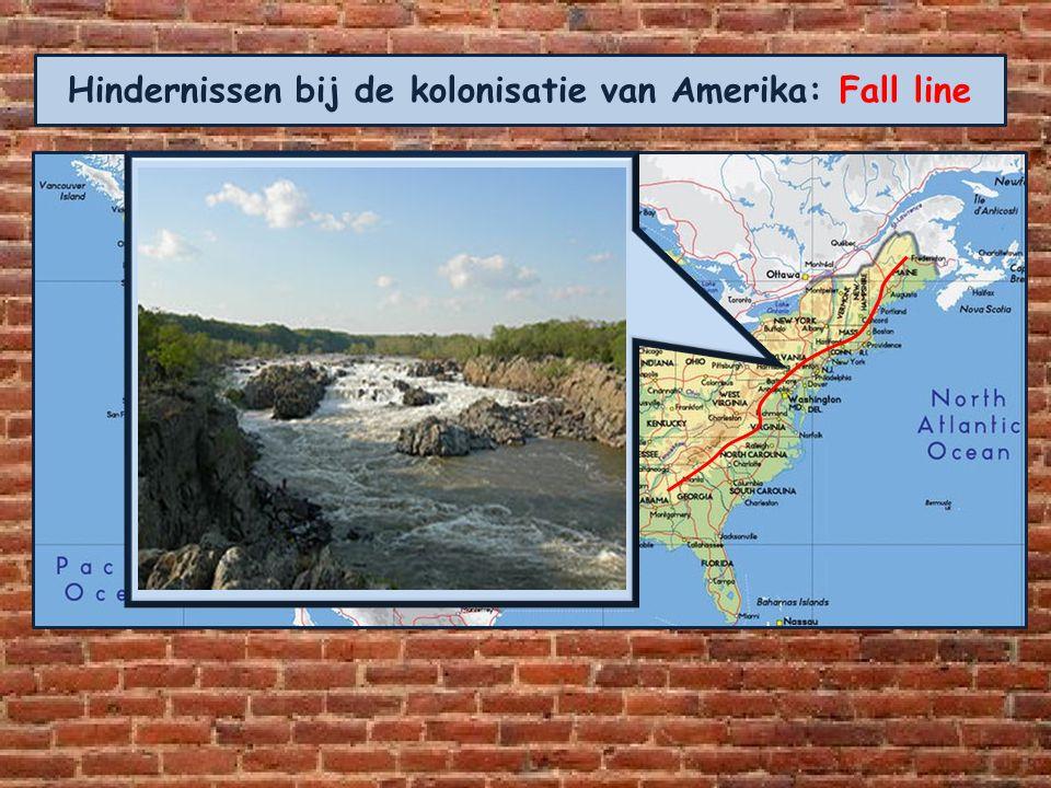 Hindernissen bij de kolonisatie van Amerika: Fall line