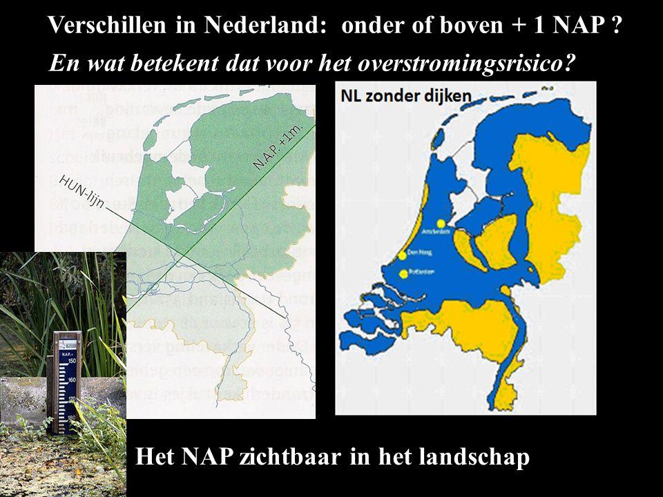 Verschillen in Nederland: onder of boven + 1 NAP