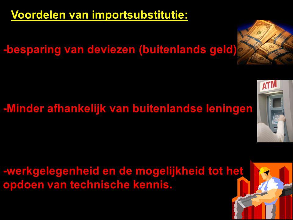 Voordelen van importsubstitutie: