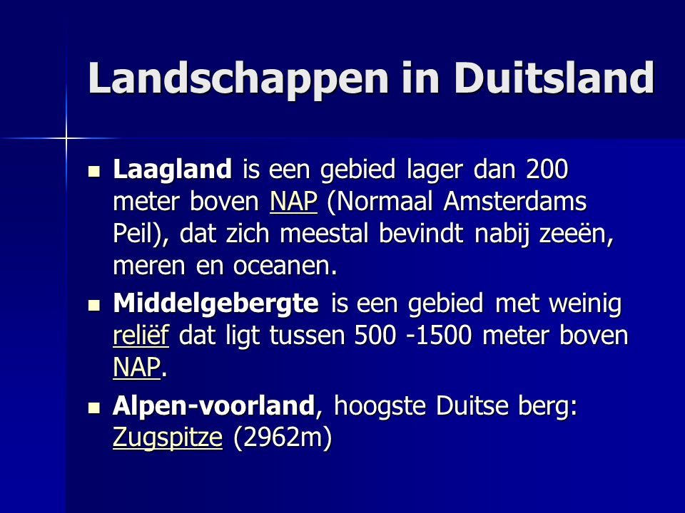 Landschappen in Duitsland