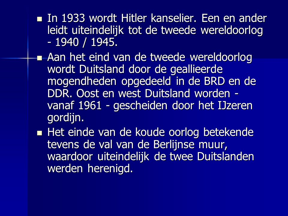 In 1933 wordt Hitler kanselier