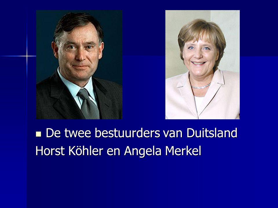 De twee bestuurders van Duitsland