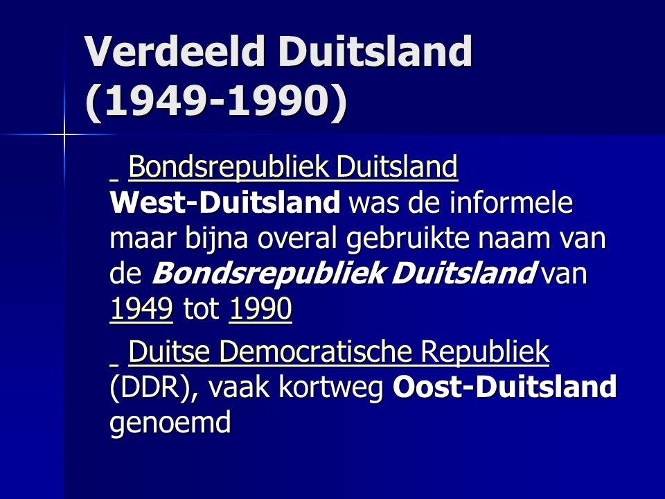 Verdeeld Duitsland (1949-1990)