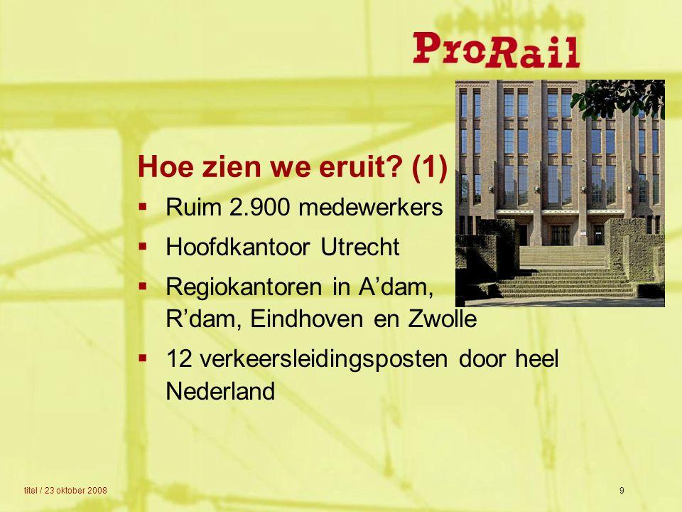 Hoe zien we eruit (1) Ruim 2.900 medewerkers Hoofdkantoor Utrecht