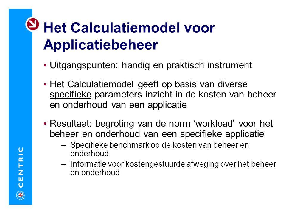 Het Calculatiemodel voor Applicatiebeheer