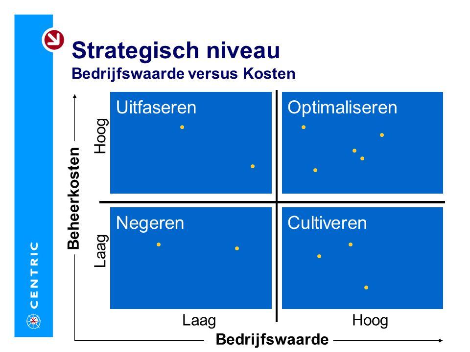 Strategisch niveau Bedrijfswaarde versus Kosten