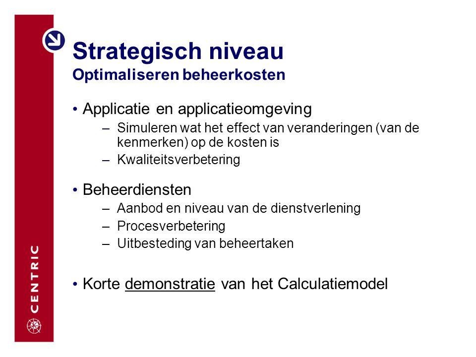 Strategisch niveau Optimaliseren beheerkosten