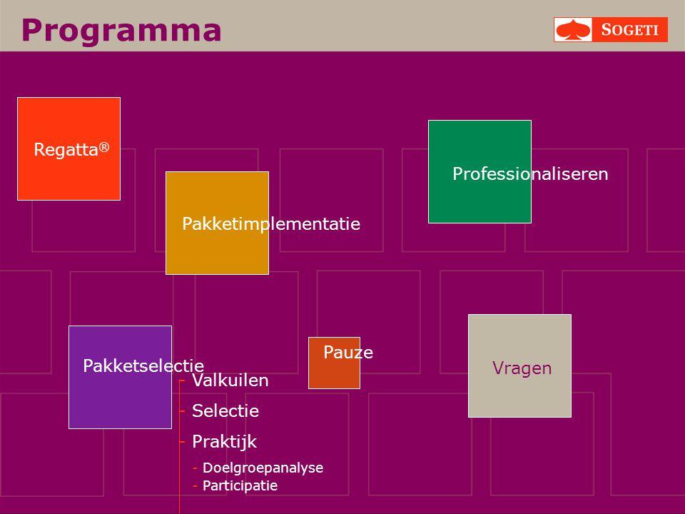 Programma Regatta® Professionaliseren Pakketimplementatie Pauze