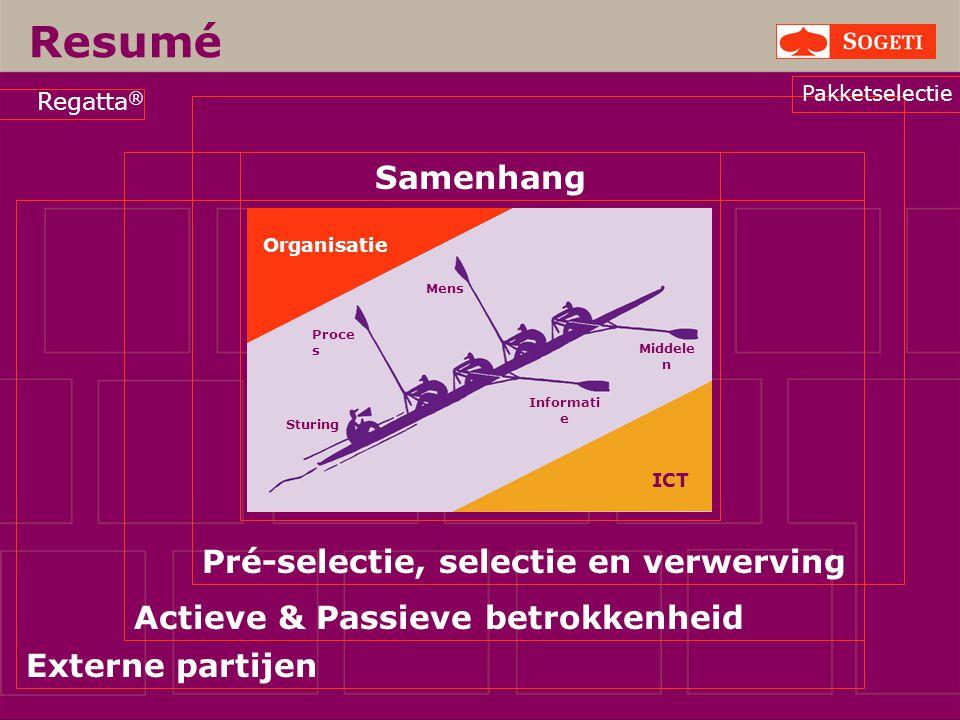 Resumé Samenhang Pré-selectie, selectie en verwerving