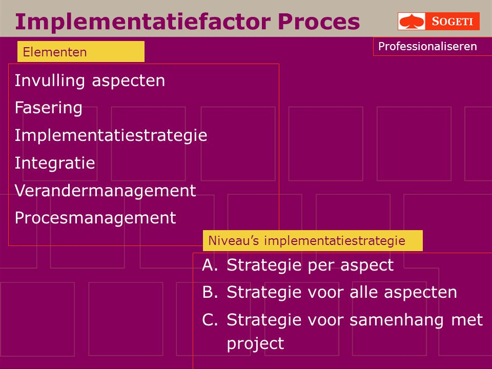 Implementatiefactor Proces