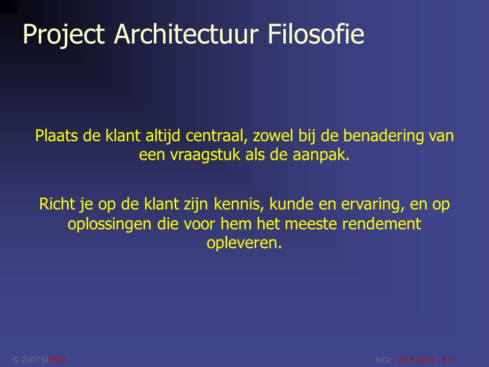 Project Architectuur Filosofie