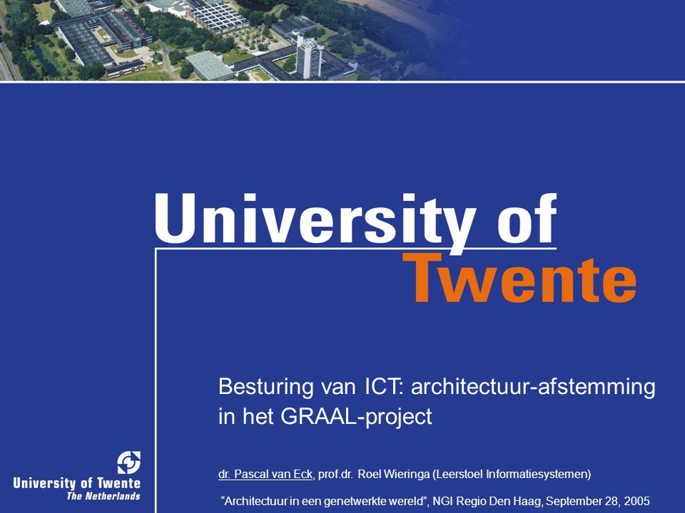 Besturing van ICT: architectuur-afstemming in het GRAAL-project