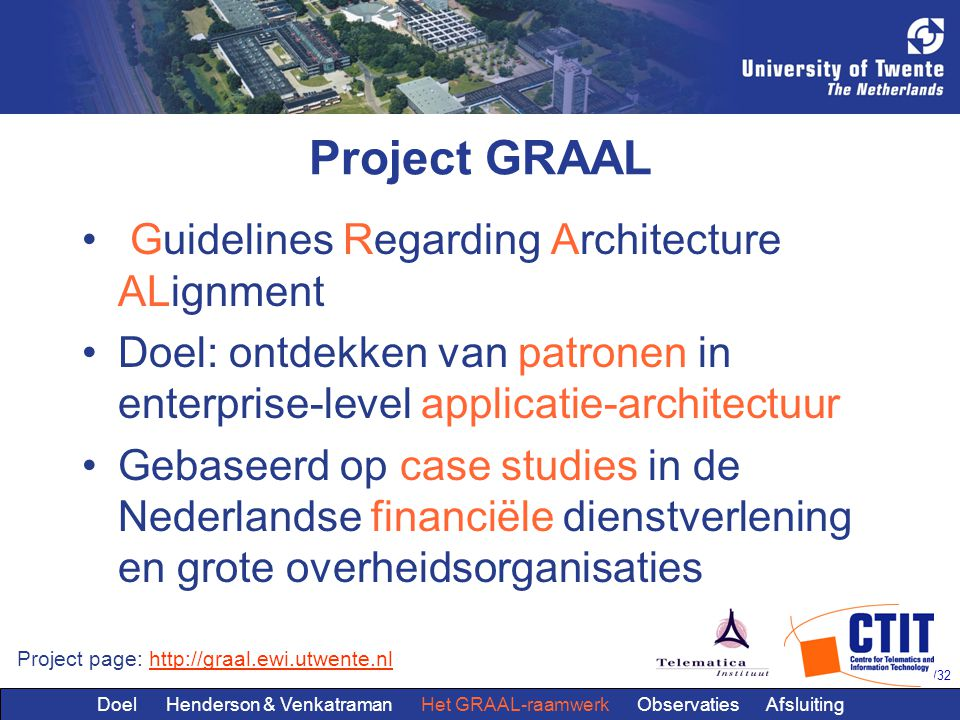 Project GRAAL Guidelines Regarding Architecture ALignment